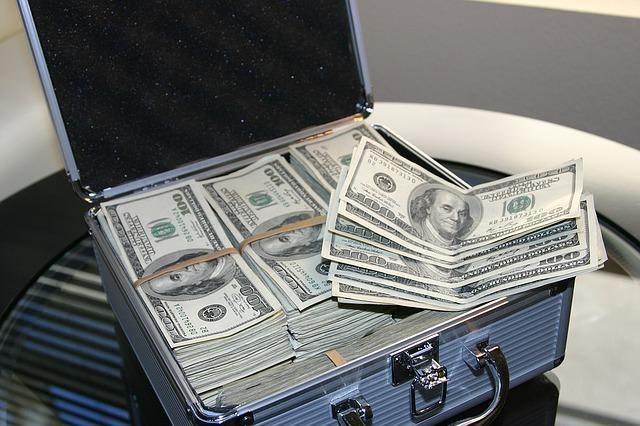 kufr dolarů