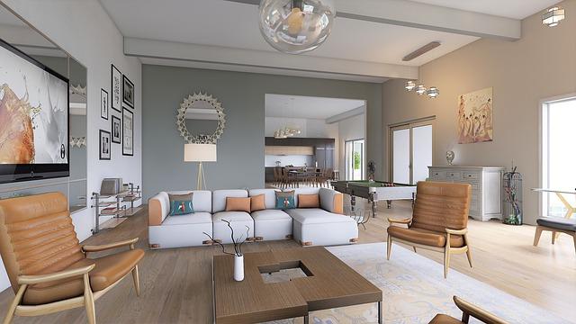 pěkně uspořádaný obývací pokoj